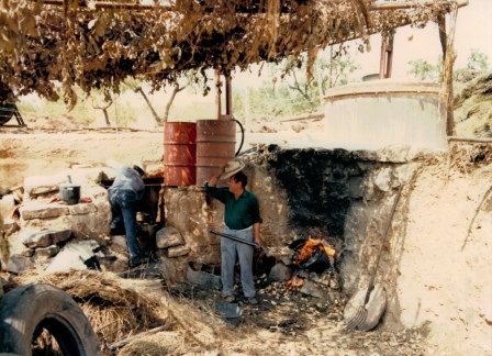 Traditional distillery Lozano in Campo de Sanjuan
